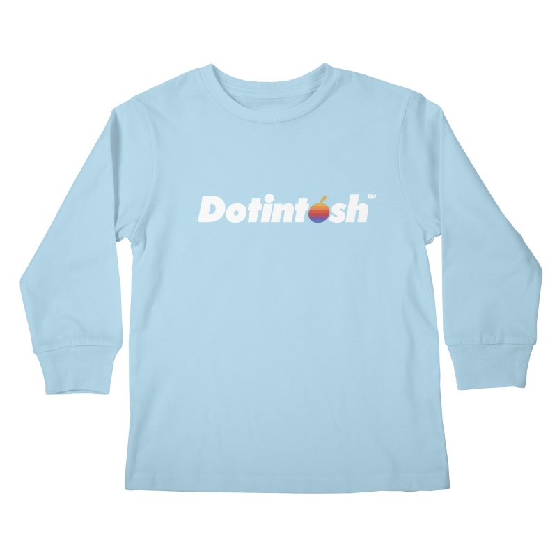Dotintosh™ Logotype Kids Longsleeve T-Shirt by Dotintosh™ Official Merch