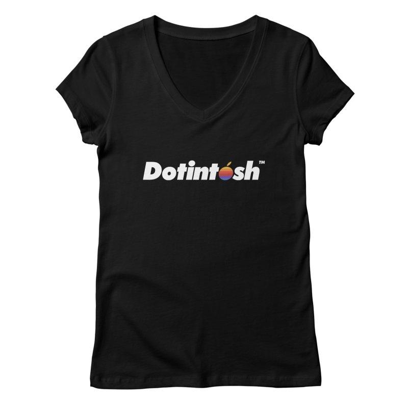 Dotintosh™ Logotype Women's V-Neck by Dotintosh™ Official Merch