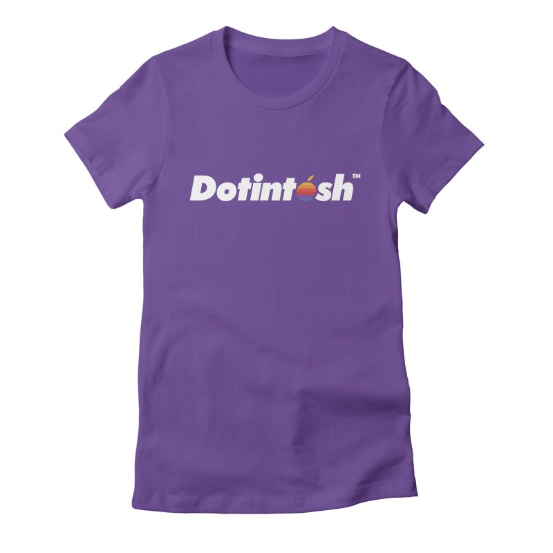 Dotintosh™ Logotype Women's Fitted T-Shirt by Dotintosh™ Official Merch