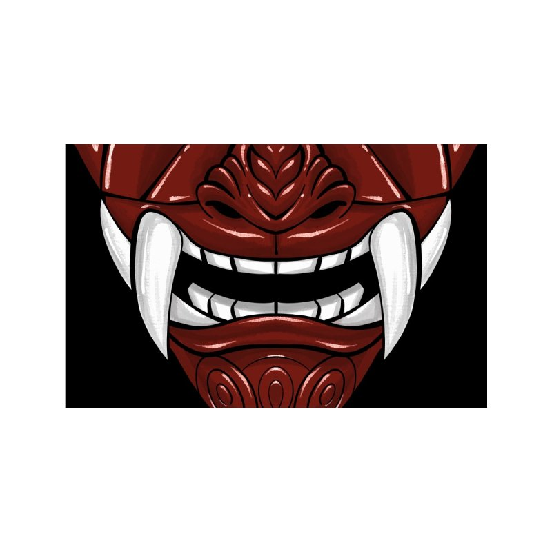 Oni - Red Accessories Face Mask by dotproblems's Artist Shop