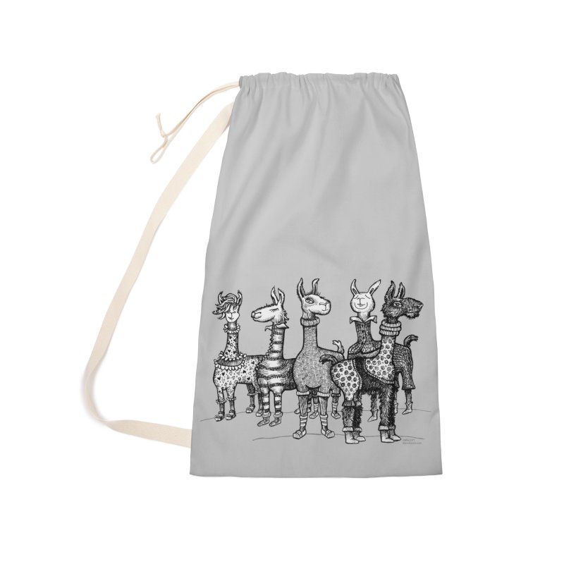 Llamas in Pajamas by dotsofpaint Accessories Laundry Bag Bag by dotsofpaint threads