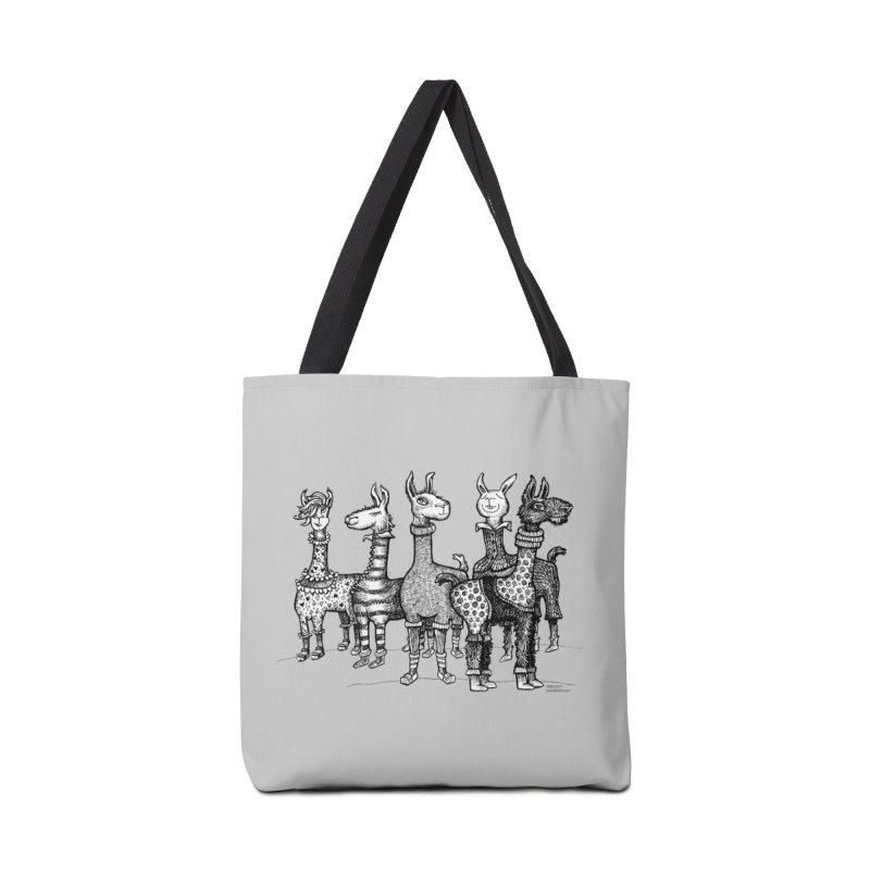 Llamas in Pajamas by dotsofpaint Accessories Tote Bag Bag by dotsofpaint threads