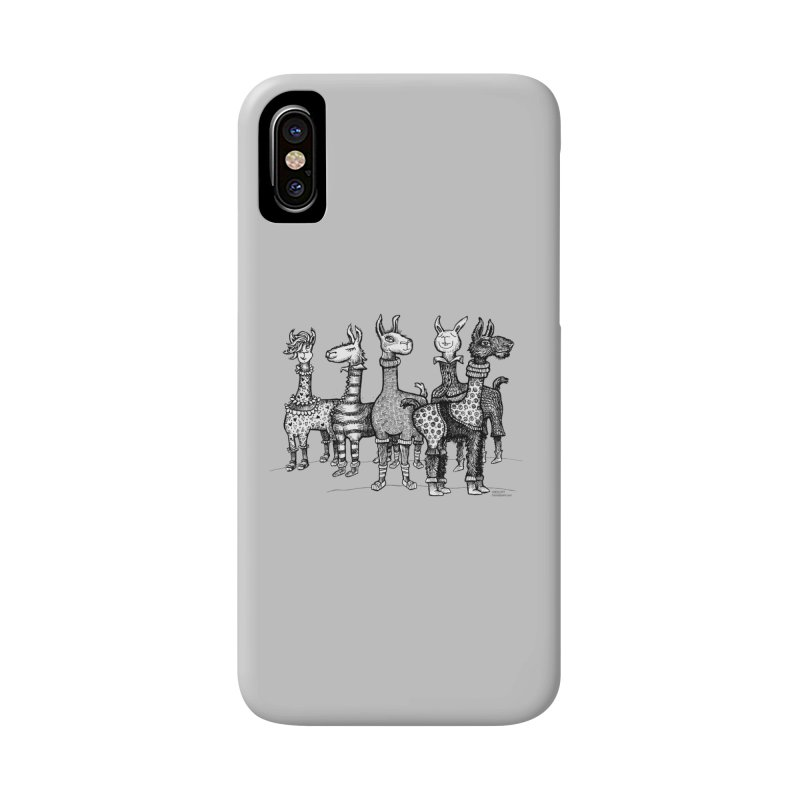 Llamas in Pajamas by dotsofpaint Accessories Phone Case by dotsofpaint threads