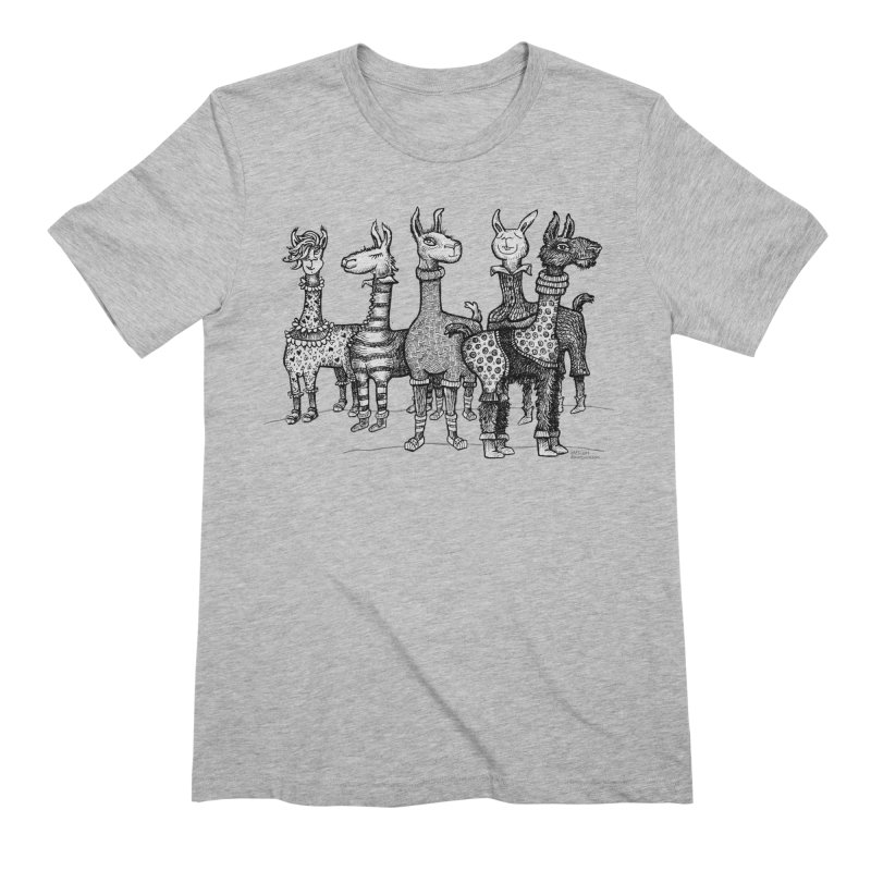 Llamas in Pajamas by dotsofpaint Men's Extra Soft T-Shirt by dotsofpaint threads