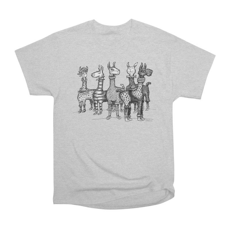 Llamas in Pajamas by dotsofpaint Women's Heavyweight Unisex T-Shirt by dotsofpaint threads