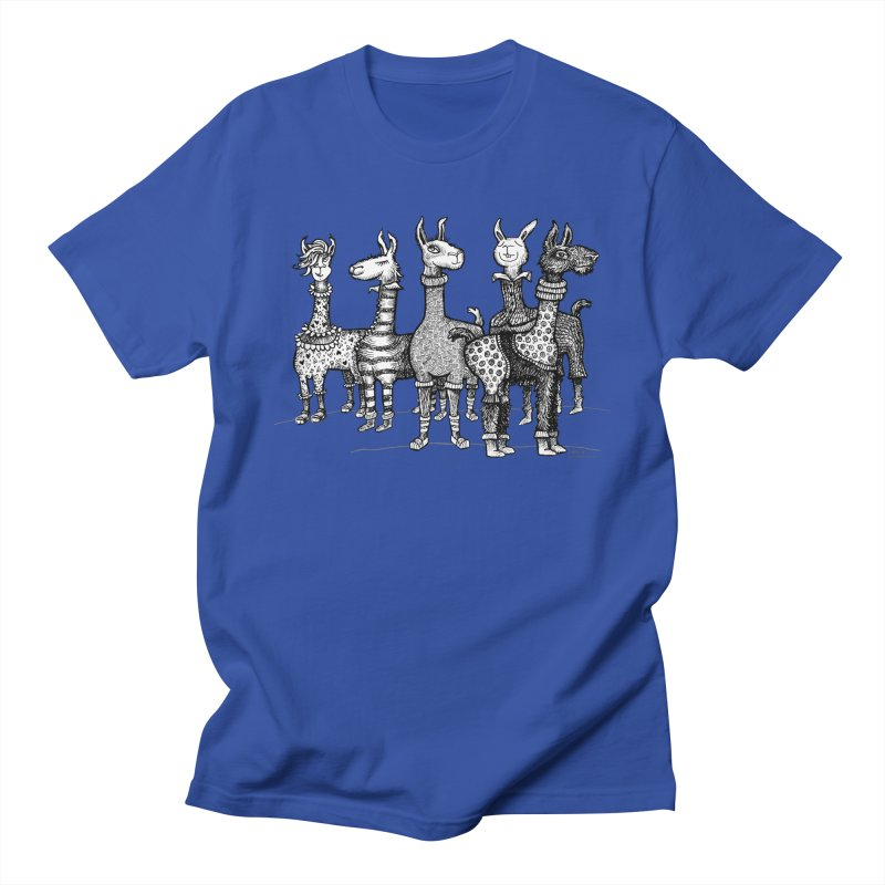 Llamas in Pajamas by dotsofpaint Men's Regular T-Shirt by dotsofpaint threads