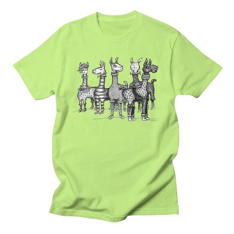 Llamas in Pajamas by dotsofpaint Women's Regular Unisex T-Shirt by dotsofpaint threads