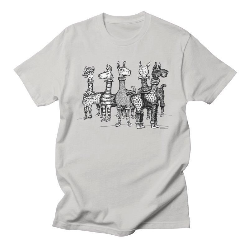 Llamas in Pajamas by dotsofpaint Men's Regular T-Shirt by dotsofpaint threads