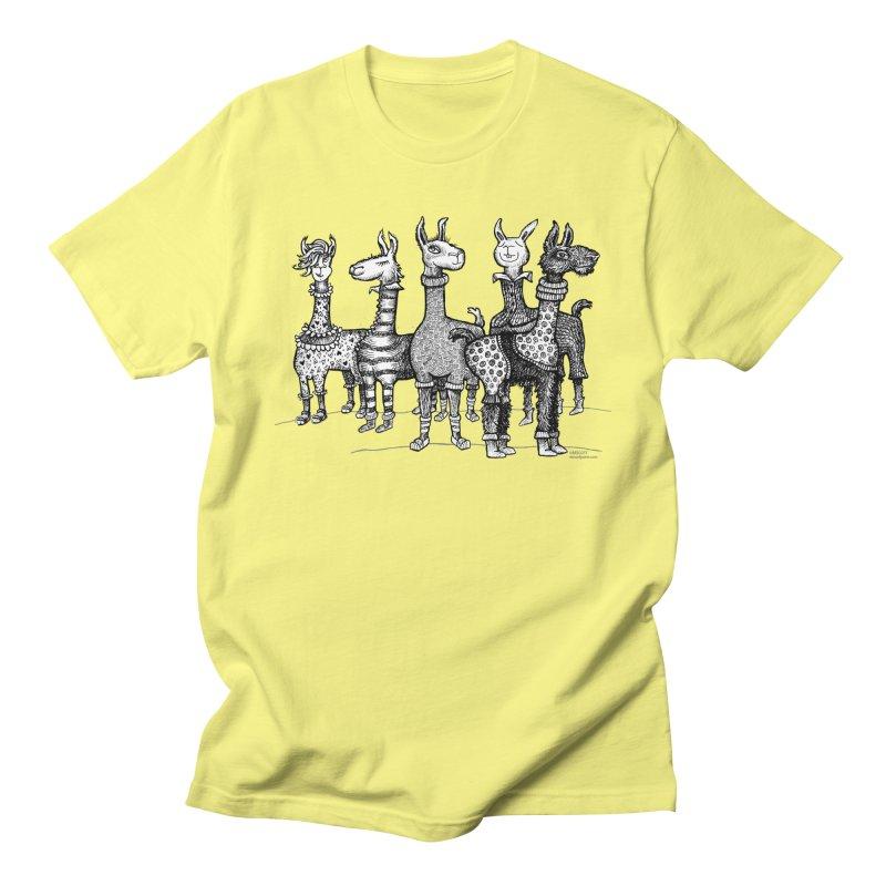 Llamas in Pajamas by dotsofpaint Men's T-Shirt by dotsofpaint threads
