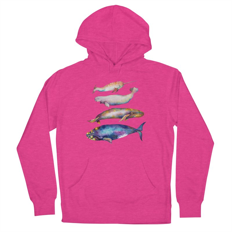 4 Watercolor Whales Women's Pullover Hoody by dotsofpaint threads