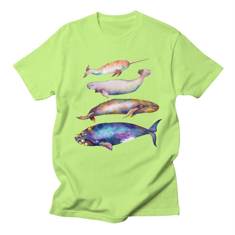 4 Watercolor Whales Men's Regular T-Shirt by dotsofpaint threads