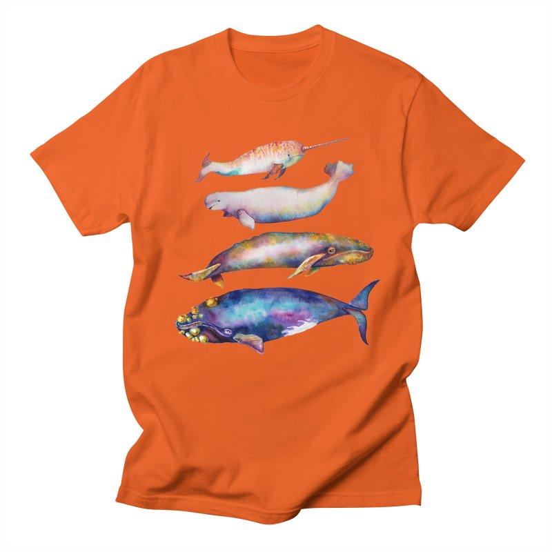 4 Watercolor Whales Men's Regular T-Shirt by dotsofpaint threads