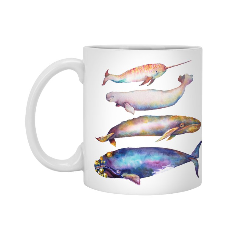 4 Watercolor Whales Accessories Standard Mug by dotsofpaint threads