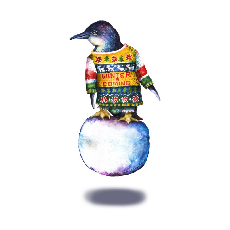 Penguin says Winter is Coming... by dotsofpaint threads
