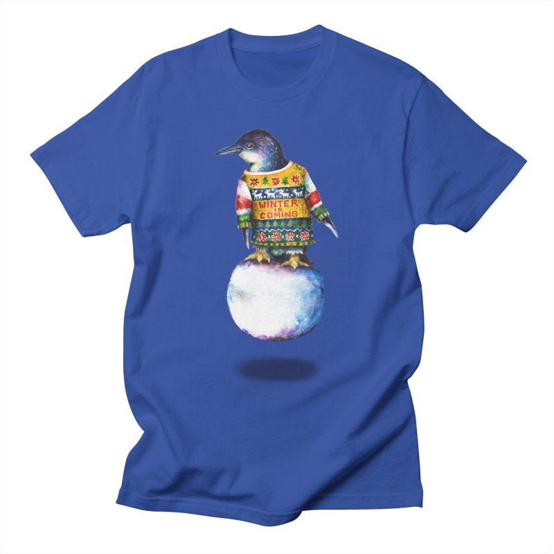 Penguin says Winter is Coming... Men's T-Shirt by dotsofpaint threads