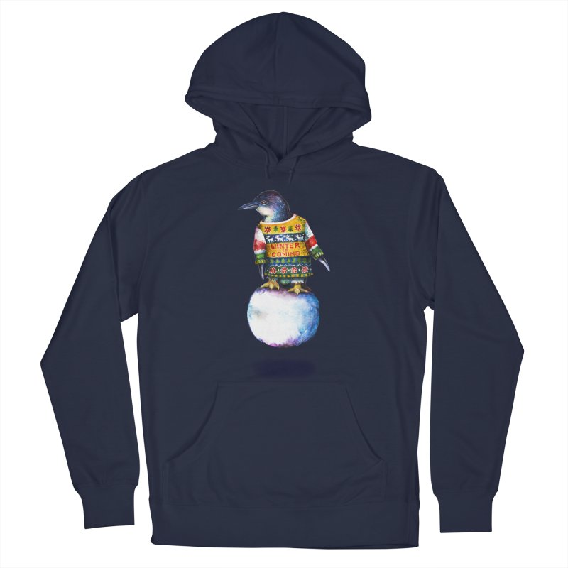 Penguin says Winter is Coming... Men's Pullover Hoody by dotsofpaint threads