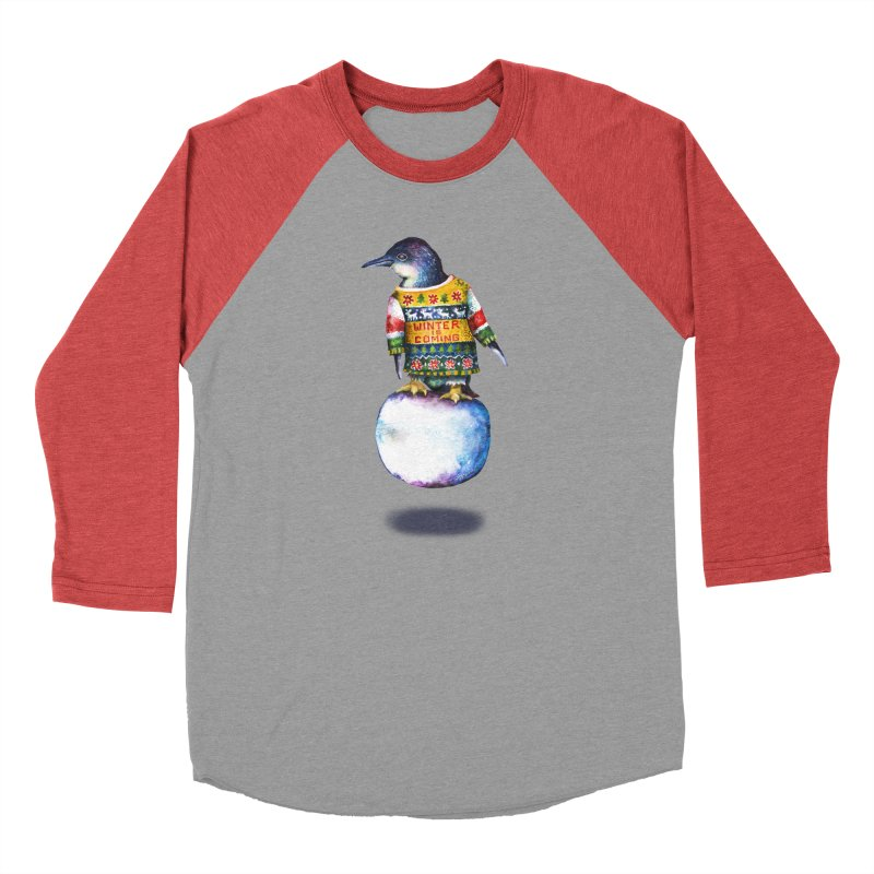 Penguin says Winter is Coming... Men's Longsleeve T-Shirt by dotsofpaint threads