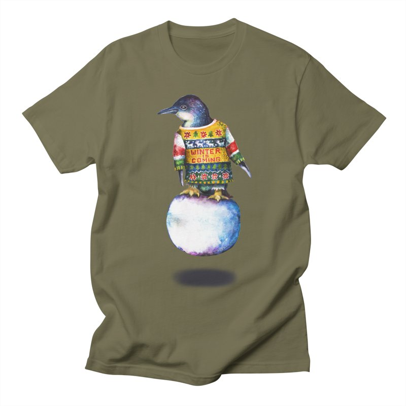 Penguin says Winter is Coming... Women's Regular Unisex T-Shirt by dotsofpaint threads