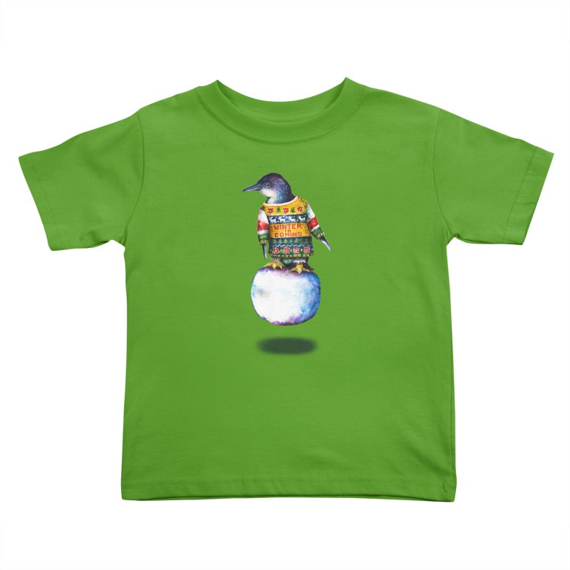 Penguin says Winter is Coming... Kids Toddler T-Shirt by dotsofpaint threads