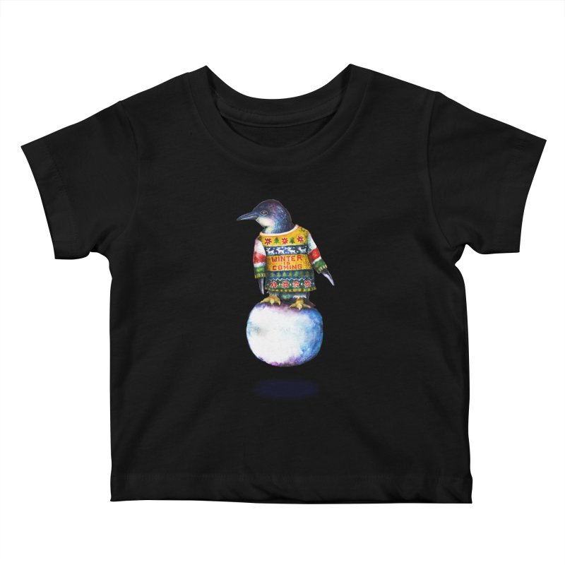 Penguin says Winter is Coming... Kids Baby T-Shirt by dotsofpaint threads