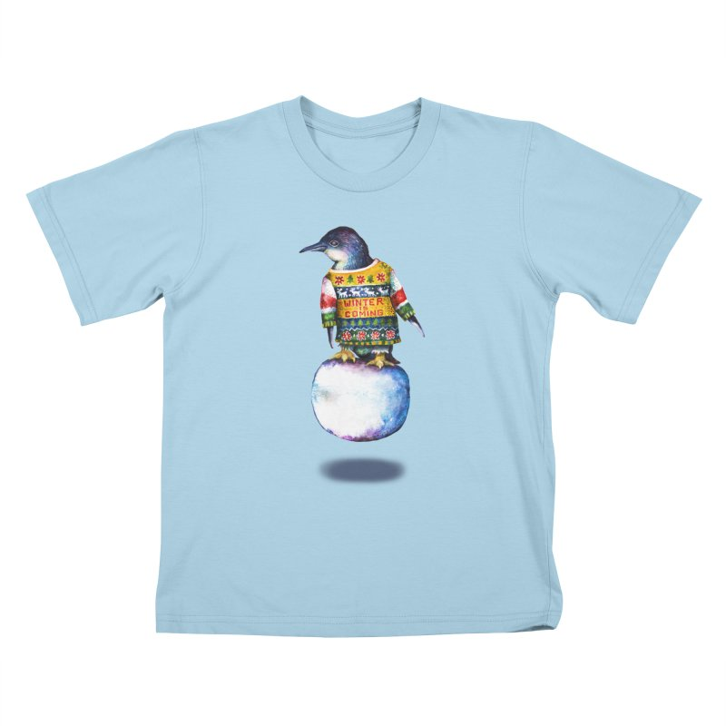 Penguin says Winter is Coming... Kids T-Shirt by dotsofpaint threads