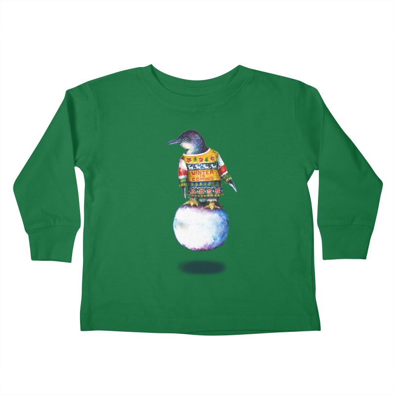 Penguin says Winter is Coming... Kids Toddler Longsleeve T-Shirt by dotsofpaint threads