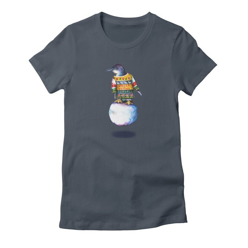 Penguin says Winter is Coming... Women's T-Shirt by dotsofpaint threads