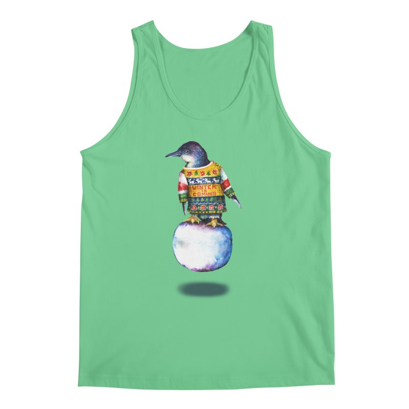 Penguin says Winter is Coming... Men's Regular Tank by dotsofpaint threads