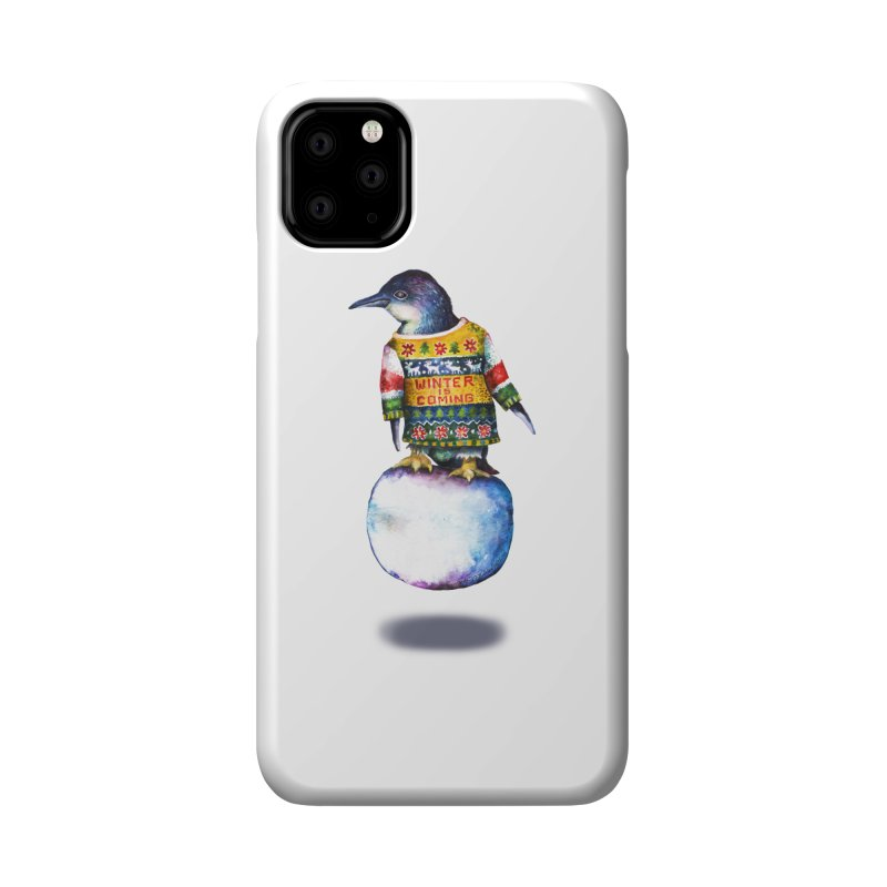 Penguin says Winter is Coming... Accessories Phone Case by dotsofpaint threads