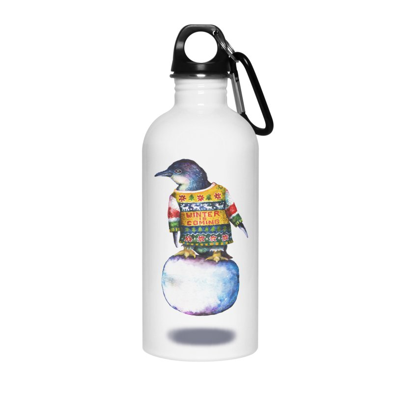 Penguin says Winter is Coming... Accessories Water Bottle by dotsofpaint threads