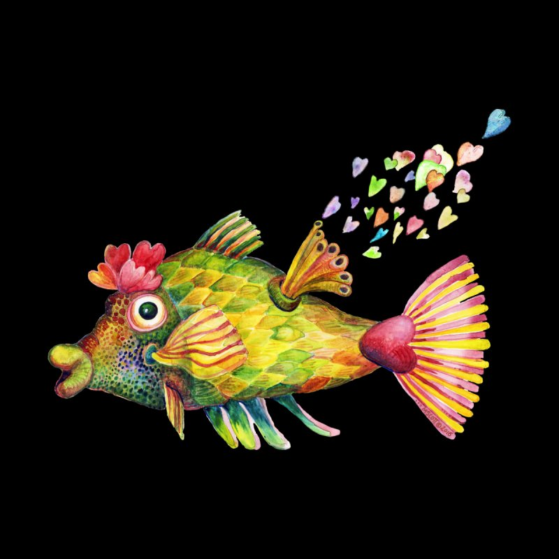 Bleeding Heart Fish by dotsofpaint threads