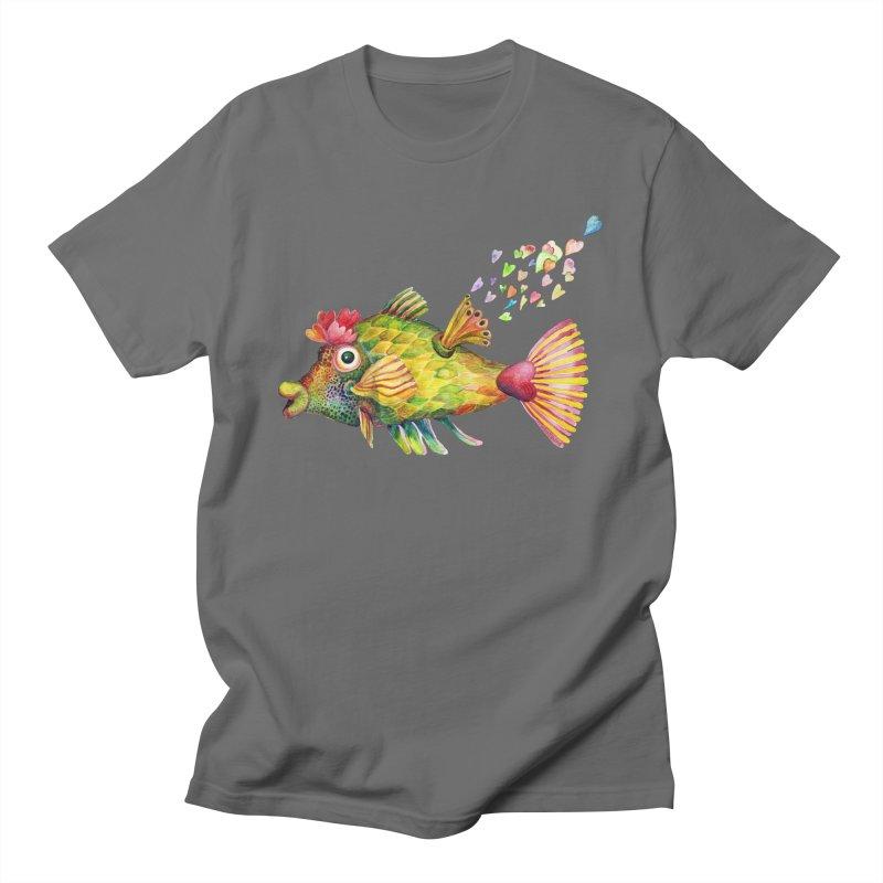 Bleeding Heart Fish Men's T-Shirt by dotsofpaint threads