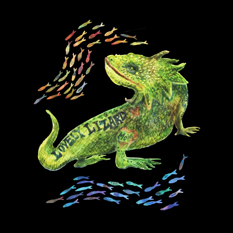 Lovely Lizard Inked and Contorted by dotsofpaint threads