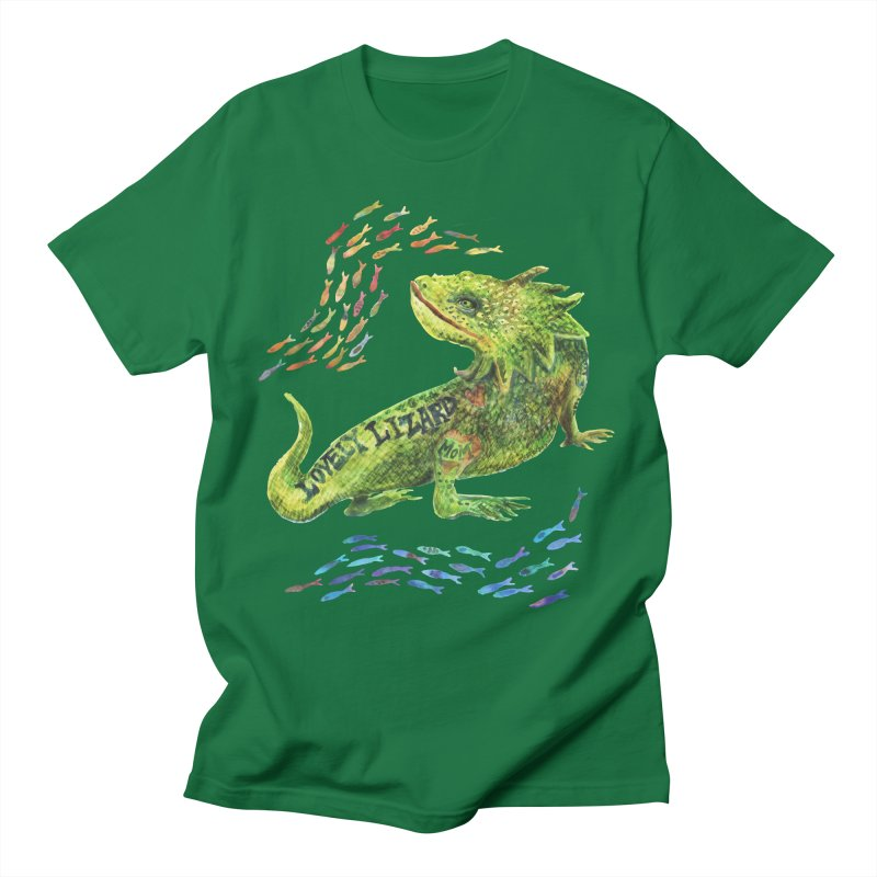 Lovely Lizard Inked and Contorted Men's T-Shirt by dotsofpaint threads