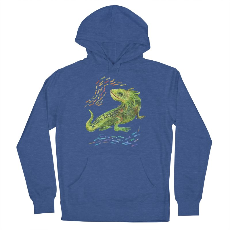 Lovely Lizard Inked and Contorted Women's Pullover Hoody by dotsofpaint threads