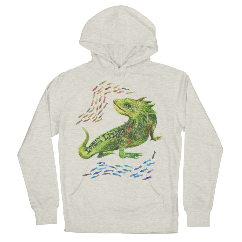 Lovely Lizard Inked and Contorted Women's French Terry Pullover Hoody by dotsofpaint threads