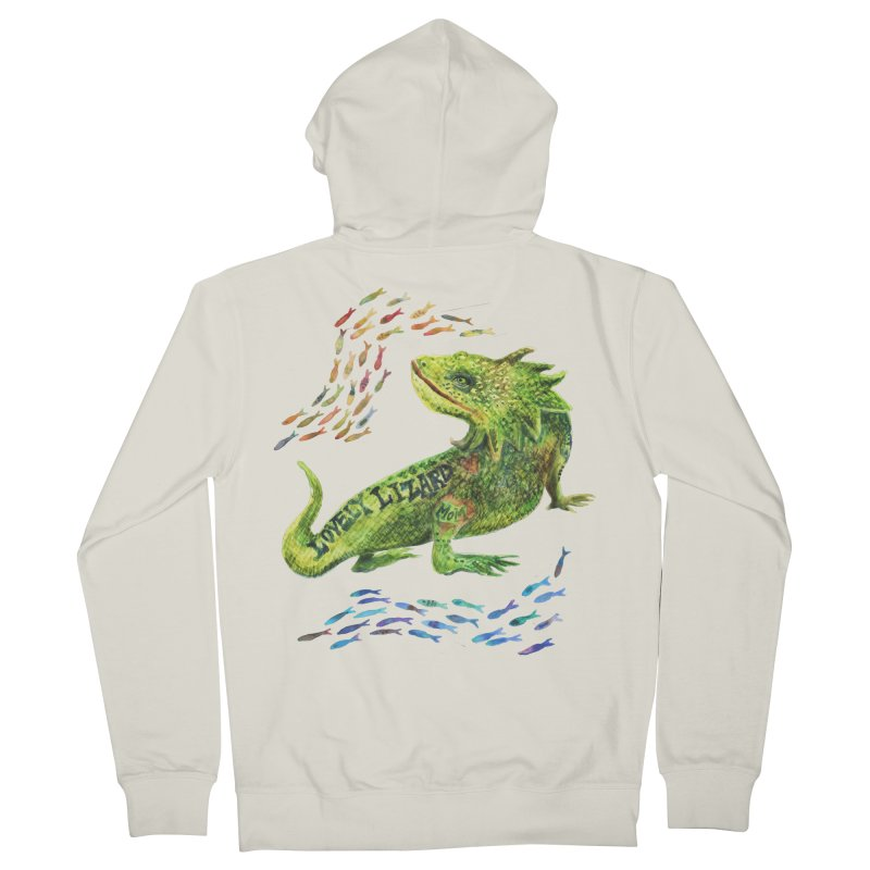 Lovely Lizard Inked and Contorted Women's French Terry Zip-Up Hoody by dotsofpaint threads