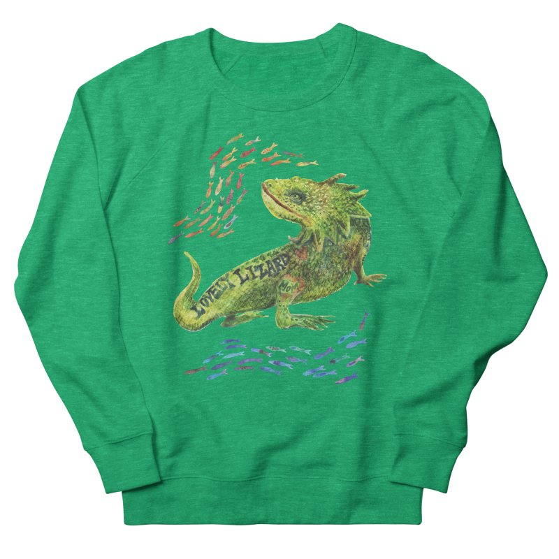 Lovely Lizard Inked and Contorted Women's Sweatshirt by dotsofpaint threads