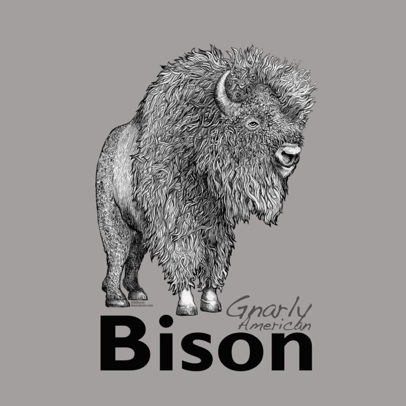 Bison Women's Sweatshirt by dotsofpaint threads