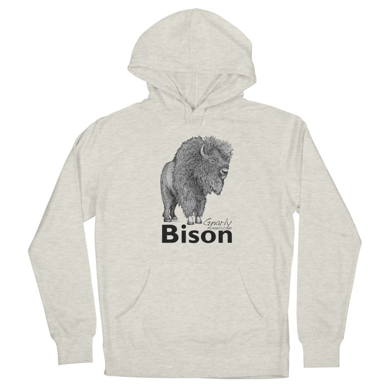 Bison Men's Pullover Hoody by dotsofpaint threads