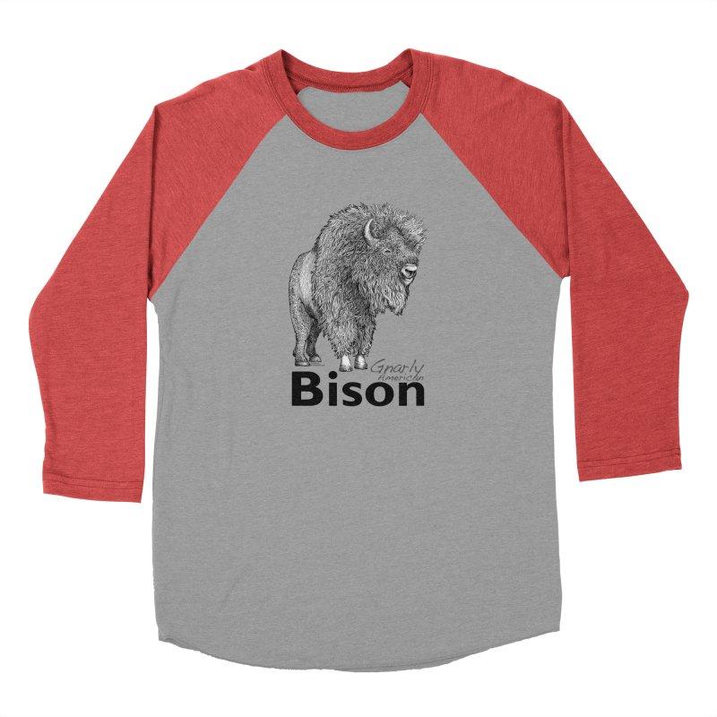 Bison Men's Longsleeve T-Shirt by dotsofpaint threads