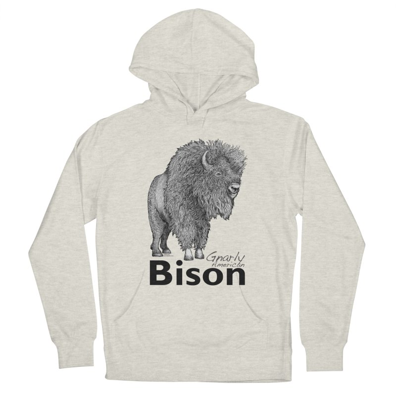 Bison Women's French Terry Pullover Hoody by dotsofpaint threads