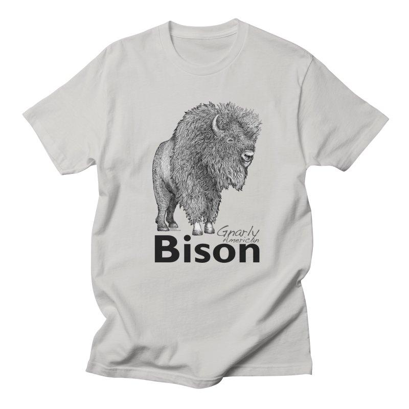 Bison Men's T-Shirt by dotsofpaint threads