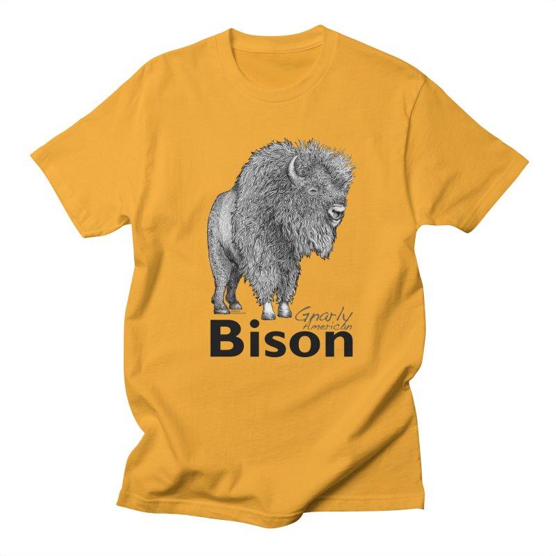 Bison Men's T-Shirt by dotsofpaint threads