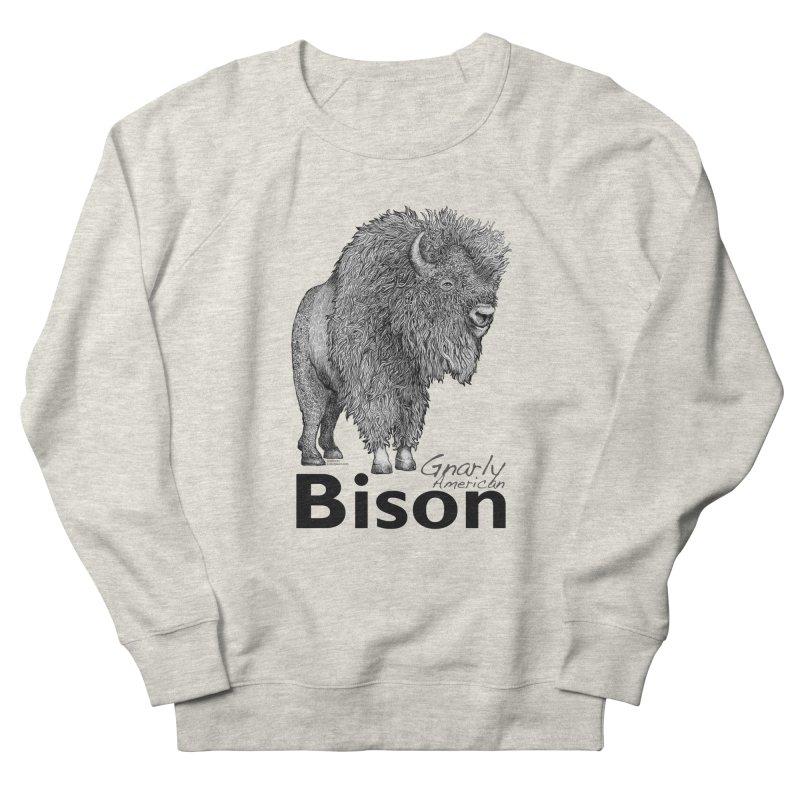 Bison Women's Sweatshirt by dotsofpaint threads