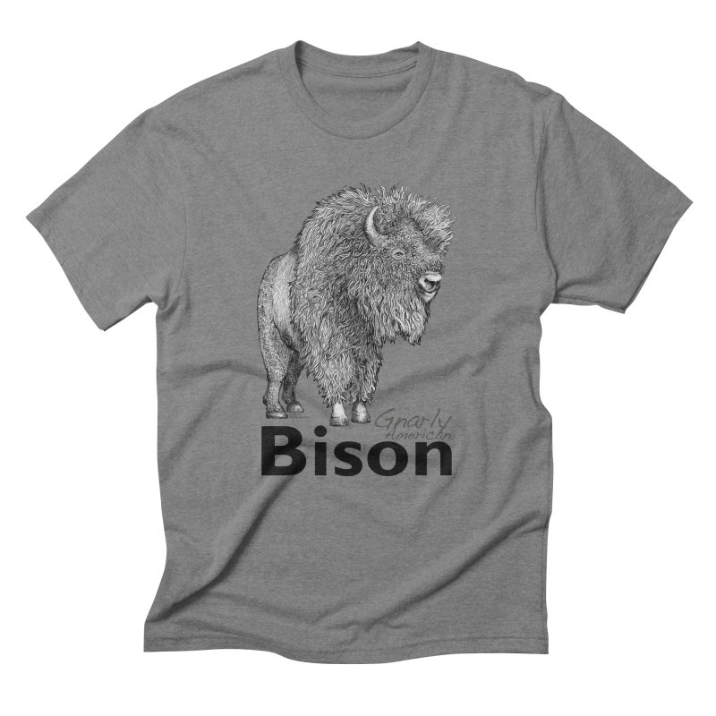 Bison Men's Triblend T-Shirt by dotsofpaint threads