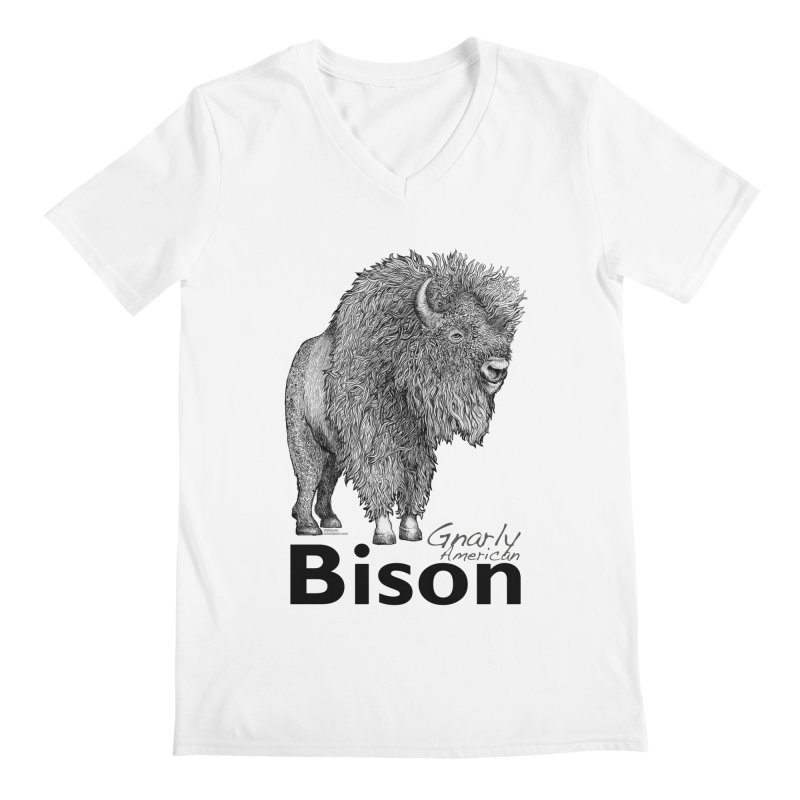 Bison Men's Regular V-Neck by dotsofpaint threads