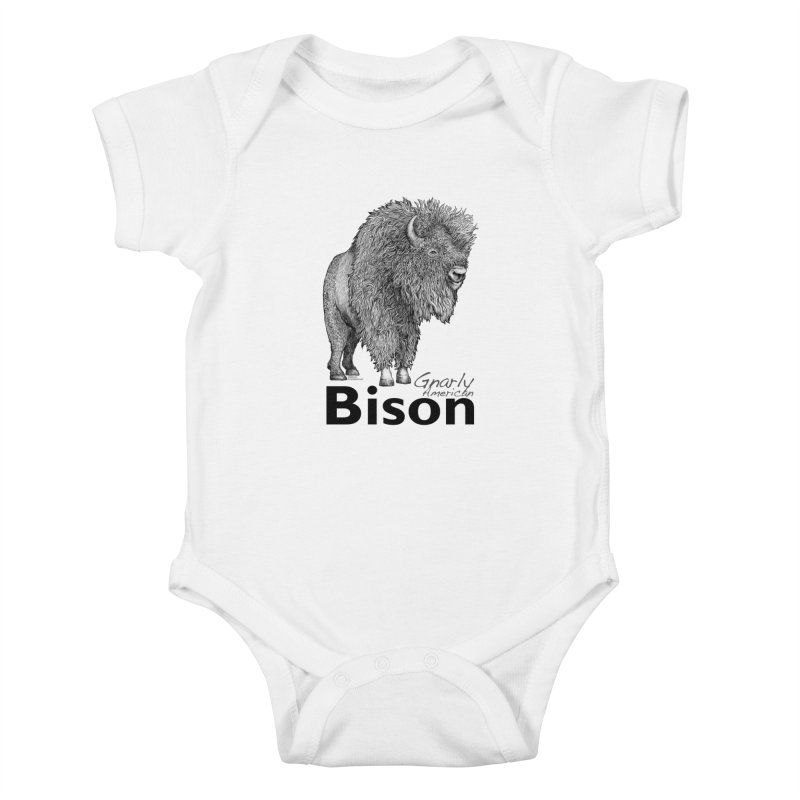 Bison Kids Baby Bodysuit by dotsofpaint threads
