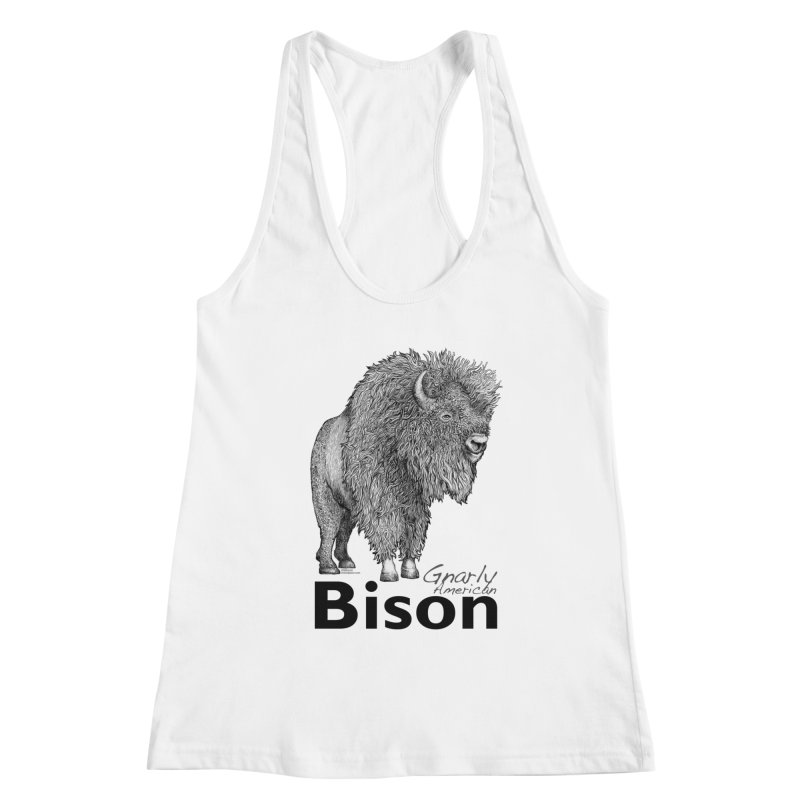 Bison Women's Tank by dotsofpaint threads