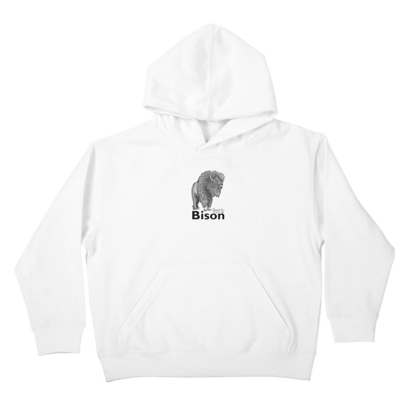 Bison Kids Pullover Hoody by dotsofpaint threads
